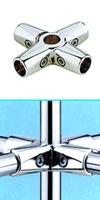 Зажим усиленный для труб  в 6-ти направлениях  d=25мм, хром