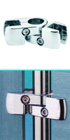 Соединитель труба-ДСП  или стекло поворотный  d=25мм, хром