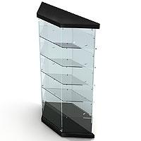 Витрина четырёхгранная(зеркальная задняя стенка) L900VF-P